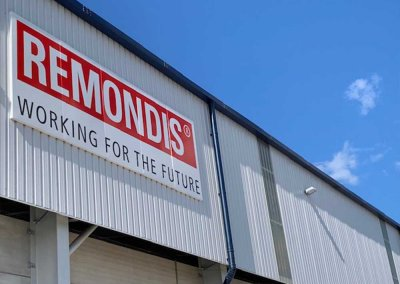 REMONDIS Facility Logo On Building
